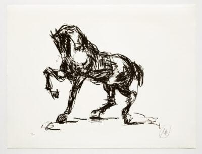 Markus Lüpertz, Troja (Motiv 13), 2019, aus einer Serie von 6 Lithografien, Motiv: 50 x 70 cm, Blatt: 61,3 x 81 cm, 20 arab. num., sign. Exemplare