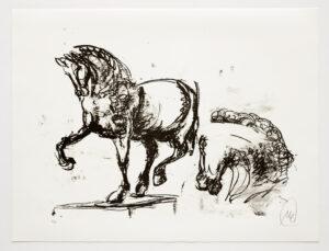 Markus Lüpertz, Troja (Motiv 14), 2019, aus einer Serie von 6 Lithografien, Motiv: 50 x 70 cm, Blatt: 61,3 x 81 cm, 20 arab. num., sign. Exemplare