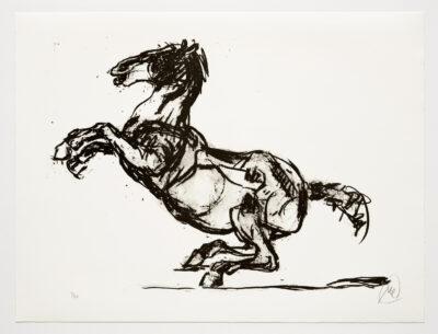 Markus Lüpertz, Troja (Motiv 15), 2019, aus einer Serie von 6 Lithografien, Motiv: 50 x 70 cm, Blatt: 61,3 x 81 cm, 20 arab. num., sign. Exemplare