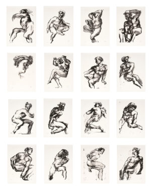 Markus Lüpertz, Michael Engel, Zylus aus 20 Lithografien, 2017, Lithografie auf Bütten, je 82,8 x 61,5 cm, je 20 arab. num. Exemplare zzgl. e.a.