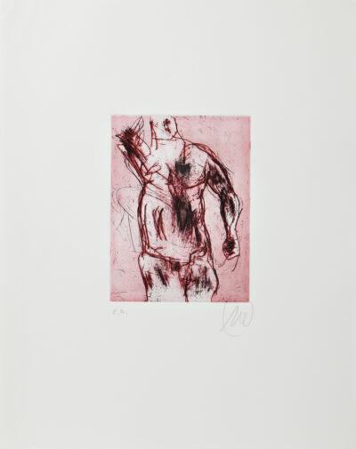 Markus Lüpertz, Herkules (rot), 2012, Radierung auf Bütten, 48 x 38 cm, 20 Exemplare zzgl. e.a.