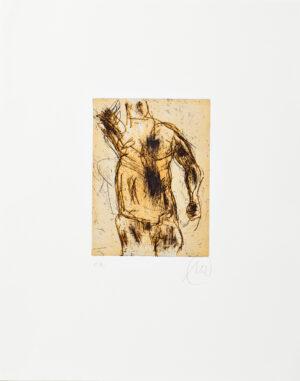 Markus Lüpertz, Herkules (gelb), 2012, Radierung auf Bütten, 48 x 38 cm, 20 Exemplare zzgl. e.a.