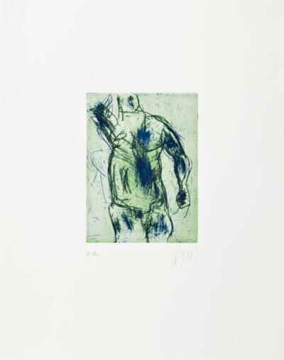 Markus Lüpertz, Herkules (grün), 2012, Radierung auf Bütten, 48 x 38 cm, 20 Exemplare zzgl. e.a.
