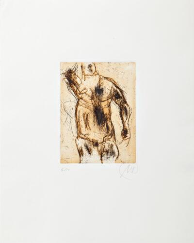 Markus Lüpertz, Herkules (orange), 2012, Radierung auf Bütten, 48 x 38 cm, 20 Exemplare zzgl. e.a.