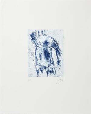Markus Lüpertz, Herkules (blau), 2012, Radierung auf Bütten, 48 x 38 cm, 20 Exemplare zzgl. e.a.