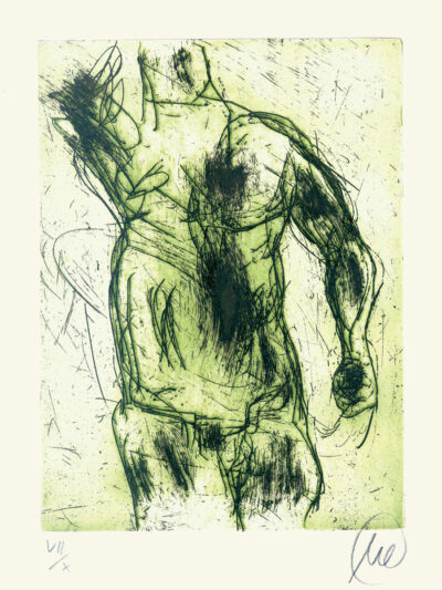 Markus Lüpertz, Herkules (grün), 2012, Radierung auf Bütten, 24 x 18 cm, 10 röm. num. Exemplare zzgl. e. a.