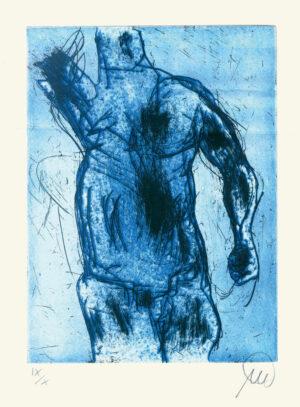 Markus Lüpertz, Herkules (azurblau), 2012, Radierung auf Bütten, 24 x 18 cm, 10 röm. num. Exemplare zzgl. e. a.