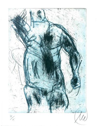 Markus Lüpertz, Herkules (hellblau), 2012, Radierung auf Bütten, 24 x 18 cm, 10 röm. num. Exemplare zzgl. e. a.