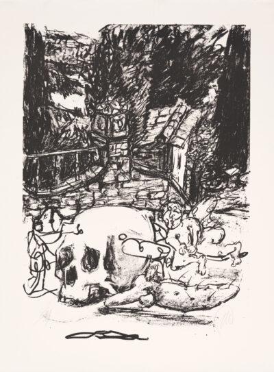 Markus Lüpertz, Tosca (Motiv 3), 2016, Lithografie auf Bütten, 82,8 x 61,5 cm, 20 arab. num. Exemplare zzgl. e.a.