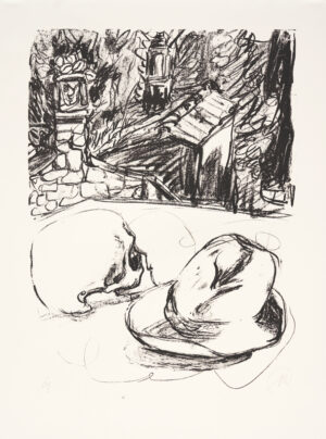 Markus Lüpertz, Tosca (Motiv 6), 2016, Lithografie auf Bütten, 82,8 x 61,5 cm, 20 arab. num. Exemplare zzgl. e.a.