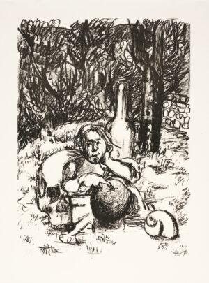 Markus Lüpertz, Tosca (Motiv 9), 2016, Lithografie auf Bütten, 82,8 x 61,5 cm, 20 arab. num. Exemplare zzgl. e.a.