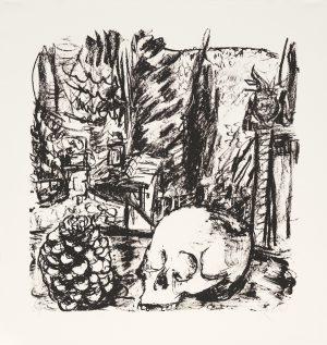 Markus Lüpertz, Tosca (Motiv 11), 2016, Lithografie auf Bütten, 64,6 x 61,5 cm, 20 arab. num. Exemplare zzgl. e.a.