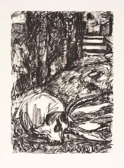 Markus Lüpertz, Tosca (Motiv 15), 2016, Lithografie auf Bütten, 82,8 x 61,5 cm, 20 arab. num. Exemplare zzgl. e.a.