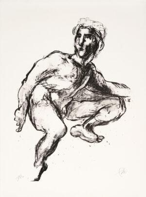 Markus Lüpertz, Michael Engel (Motiv 2), 2017, Lithografie auf Bütten, 82,8 x 61,5 cm, 20 arab. num. Exemplare zzgl. e.a.