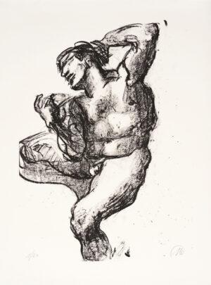 Markus Lüpertz, Michael Engel (Motiv 3), 2017, Lithografie auf Bütten, 82,8 x 61,5 cm, 20 arab. num. Exemplare zzgl. e.a.