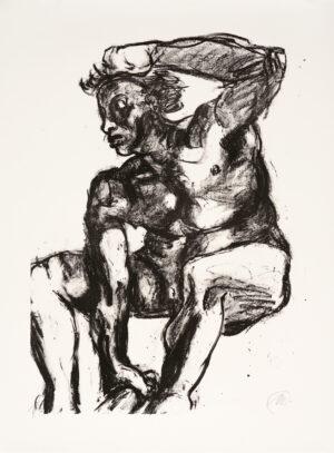 Markus Lüpertz, Michael Engel (Motiv 4), 2017, Lithografie auf Bütten, 82,8 x 61,5 cm, 20 arab. num. Exemplare zzgl. e.a.