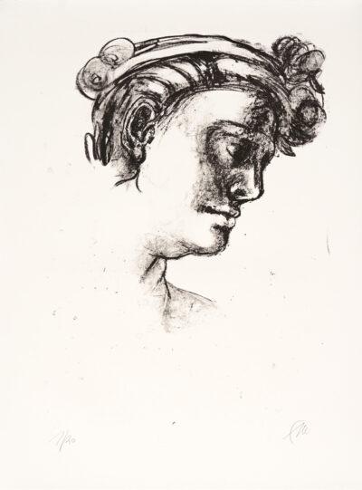Markus Lüpertz, Michael Engel (Motiv 5), 2017, Lithografie auf Bütten, 82,8 x 61,5 cm, 20 arab. num. Exemplare zzgl. e.a.