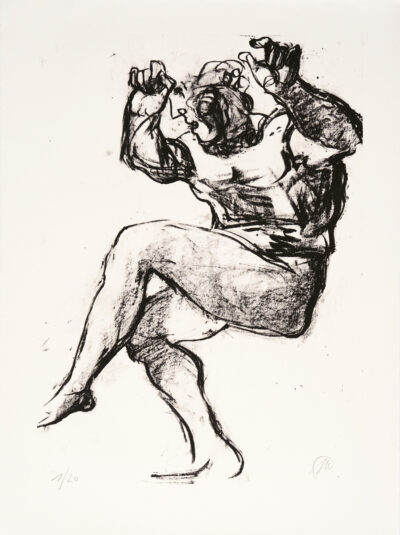 Markus Lüpertz, Michael Engel (Motiv 6), 2017, Lithografie auf Bütten, 82,8 x 61,5 cm, 20 arab. num. Exemplare zzgl. e.a.