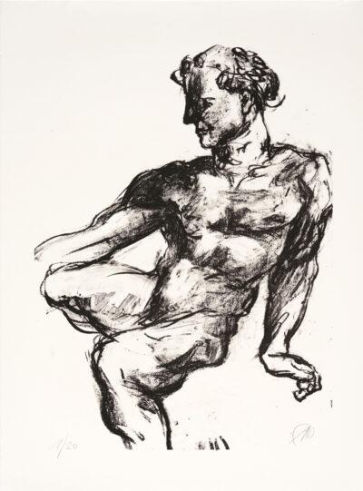 Markus Lüpertz, Michael Engel (Motiv 7), 2017, Lithografie auf Bütten, 82,8 x 61,5 cm, 20 arab. num. Exemplare zzgl. e.a.