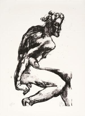 Markus Lüpertz, Michael Engel (Motiv 10), 2017, Lithografie auf Bütten, 82,8 x 61,5 cm, 20 arab. num. Exemplare zzgl. e.a.
