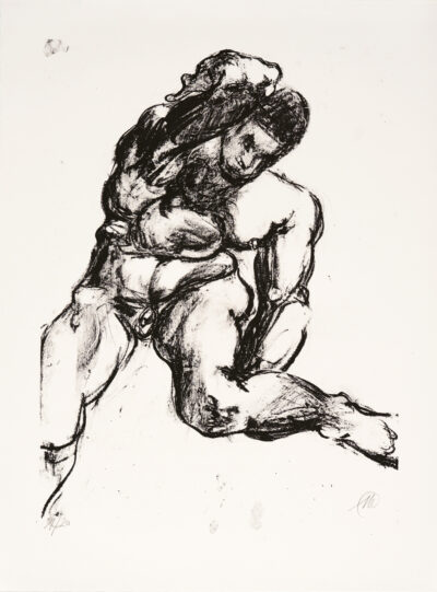 Markus Lüpertz, Michael Engel (Motiv 12), 2017, Lithografie auf Bütten, 82,8 x 61,5 cm, 20 arab. num. Exemplare zzgl. e.a.