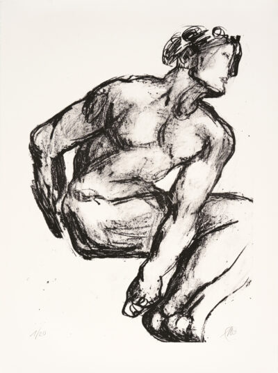 Markus Lüpertz, Michael Engel (Motiv 13), 2017, Lithografie auf Bütten, 82,8 x 61,5 cm, 20 arab. num. Exemplare zzgl. e.a.