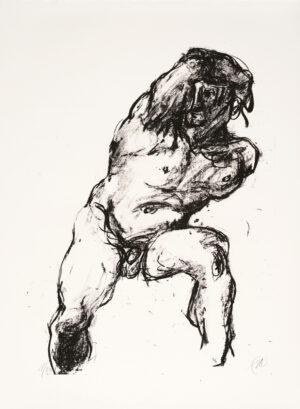 Markus Lüpertz, Michael Engel (Motiv 14), 2017, Lithografie auf Bütten, 82,8 x 61,5 cm, 20 arab. num. Exemplare zzgl. e.a.