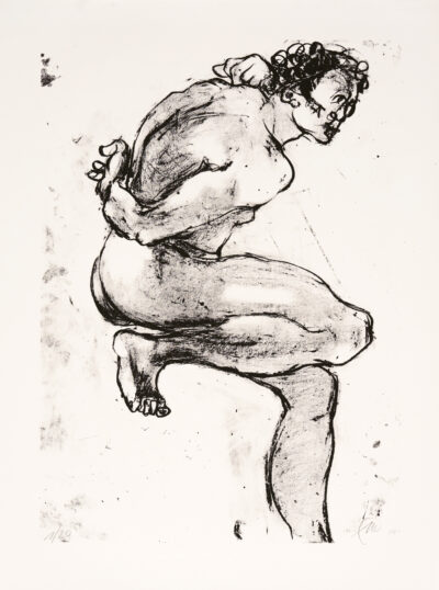 Markus Lüpertz, Michael Engel (Motiv 15), 2017, Lithografie auf Bütten, 82,8 x 61,5 cm, 20 arab. num. Exemplare zzgl. e.a.