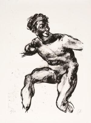 Markus Lüpertz, Michael Engel (Motiv 17), 2017, Lithografie auf Bütten, 82,8 x 61,5 cm, 20 arab. num. Exemplare zzgl. e.a.