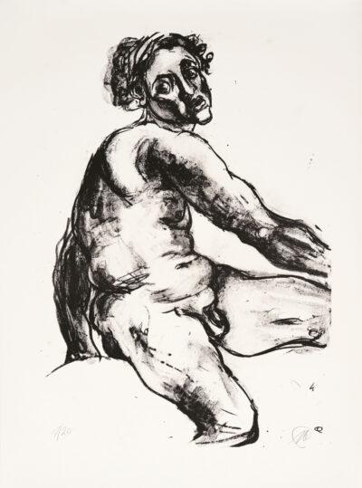 Markus Lüpertz, Michael Engel (Motiv 20), 2017, Lithografie auf Bütten, 82,8 x 61,5 cm, 20 arab. num. Exemplare zzgl. e.a.