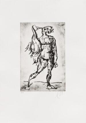 Markus Lüpertz Leda Radierung 2019 - Variante schwarz . Format: 53 x 37,5 cm, 10 Exemplare zzgl. e.a.