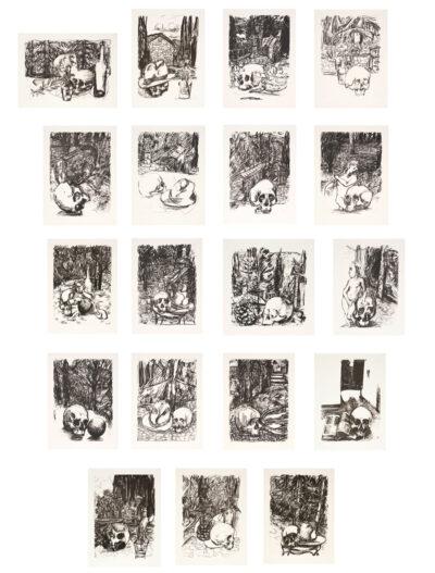 Markus Lüpertz, Tosca (Serie von 19 Motiven), 2016, Lithografie auf Bütten, je 82,8 x 61,5 cm, je 20 arab. num. Exemplare zzgl. e.a.