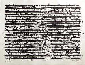 Günther Uecker Optische Partitur Mozart Prägedruck und Lithografie 2012