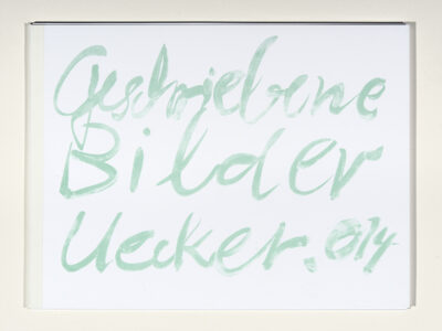 Günther Uecker Geschriebene Bilder Mappe bestehend aus 7 Farblithografien 2014