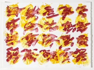 Günther Uecker Geschriebene Bilder (Blatt 7) Lithografie 2014