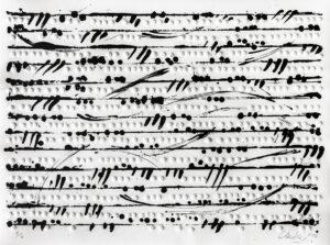 Günther Uecker Optische Partitur I Prägedruck und Lithografie 2014