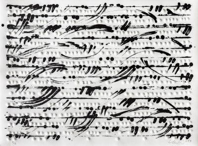 Günther Uecker, Optische Partitur II, 2014