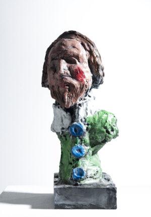 Markus Lüpertz, Skulptur Heinrich Mann und Ich = Henri IV, 2015. Bronze, handbemalt, 38,5 x 20 x 17 cm, 45 arab. num. Exemplare zzgl. e.a.