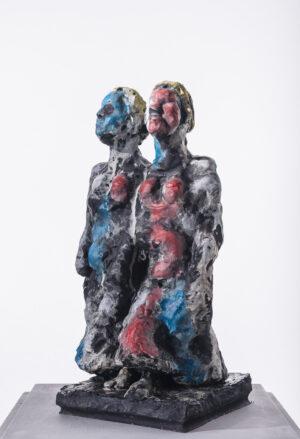 Markus Lüpertz, Skulptur Zwilling, 2017, Bronze, handbemalt, 45 x 23 x 22 cm, 30 nummerierte Exemplare zzgl. e.a.