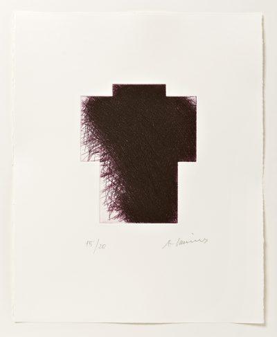 Arnulf Rainer, Kreuz klein (Variante lila), 2013