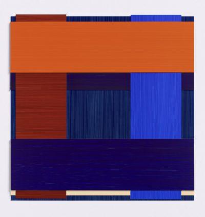 Imi Knoebel, Face 39 Ed., 2002-2014. Acryl auf Kunststoff, handgemalt, 36 x 36 cm, 5 Exemplare