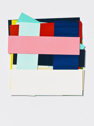 Imi Knoebel, 14 Farben 18 Stäbe, 1993-2013. Acryl auf Kunststoff-Folie gemalt, 40 x 37 cm, 5 Exemplare