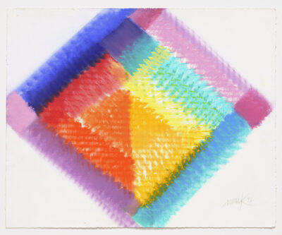 Heinz Mack Unikat Pastellzeichnung Ohne Titel 1992