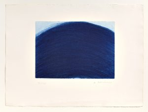 Arnulf Rainer, Blauer Berg, 1972