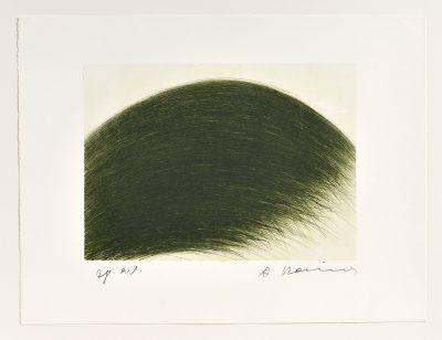 Arnulf Rainer, Grüner Berg, 1971