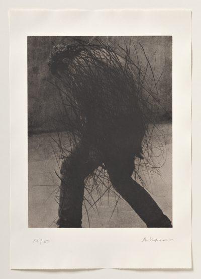 Arnulf Rainer, Krummer Abgang, 1976