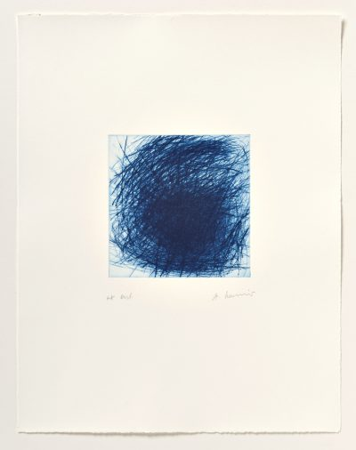 Arnulf Rainer, Blaue Galaxie, 2005