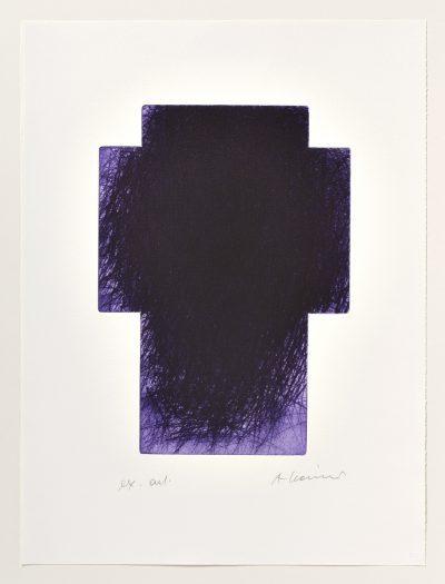 Arnulf Rainer, Violett-Kreuz, 2001
