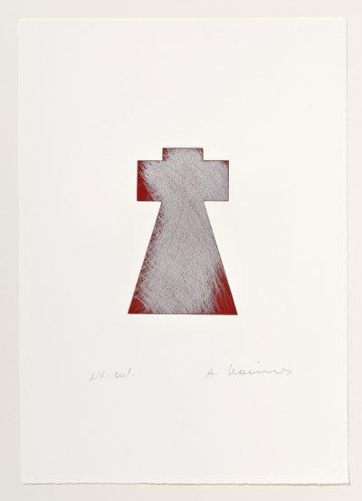 Arnulf Rainer, Mantelkreuz mit Füllsilber, 1999