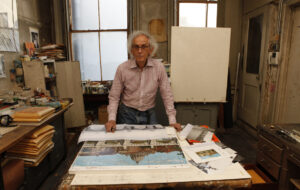 Christo in seinem Atelier in New York 2011 | Foto: Wolfgang Volz